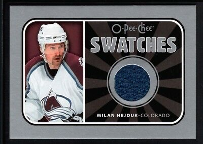 Milan Hejduk 2006/07 O-Pee-Chee Swatches Avalanche Relic Game Used Jersey Sp $20