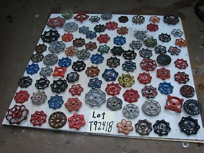 86 OLD metal & IRON water Faucet Knobs valve handles STEAMPUNK  arts and crafts