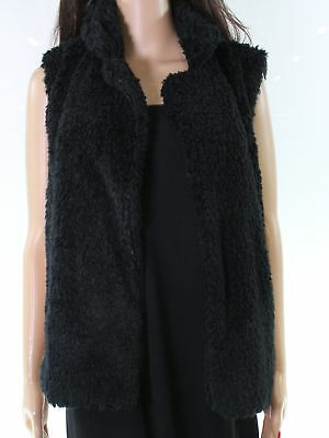 a4b56a438a4 14th   Union NEW Black Polkadot Faux-Fur Womens Medium M Vest Jacket  40