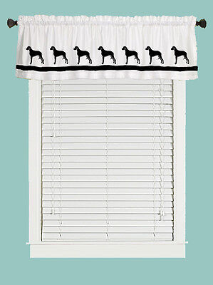 Rhodesian Ridgeback Dog Window Valance Curtain in Your Choice of Colors