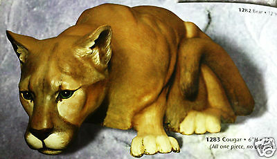 Ceramic Bisque Large Cougar Arnel Mold 1283 U-Paint Ready To Paint