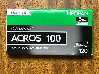 Fuji Acros 100 120 Film One Pro Pack (5 rolls) Free Shipping from japan