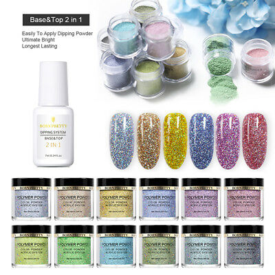 BORN PRETTY Dipping Holographic Powder Top Base Dip Liquid Nail Art Decoration