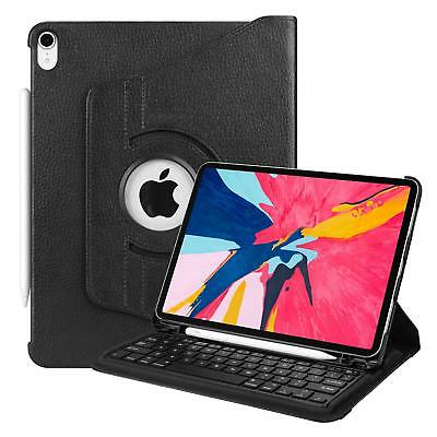 For iPad Pro 11'' 2018 Bluetooth Keyboard Case Cover with Apple Pencil Holder