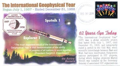 COVERSCAPE computer designed 60th anniversary International Geo Year event cover