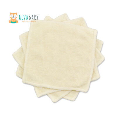 ALVA 2-Layers Bamboo Wipes For Baby Cleaning Comfortable Reusable Saliva Towel