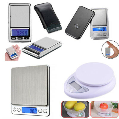 500g x 0.01g Pocket Digital Gram Scale Weight Jewelry Electronic Balance Scale