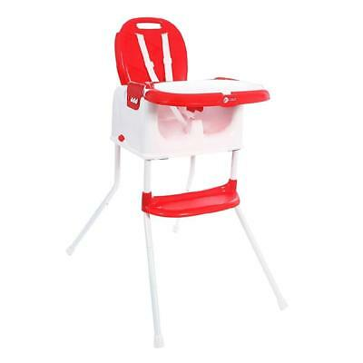 Mychild Graze 3 In 1 Chaise Haute Rouge Multifonctionnel Rahausseur