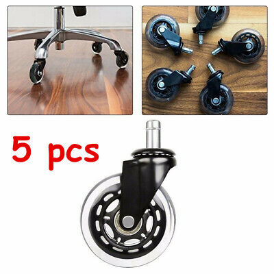 3 Inch Office Chair Caster Wheels Swivel Rubber Rollers Floor Protection 5pcs