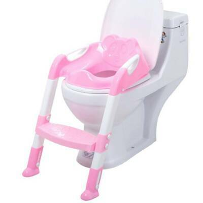 New Kids Baby Child Pink Toddler Potty Loo Training Toilet Seat & Step Ladder Uk