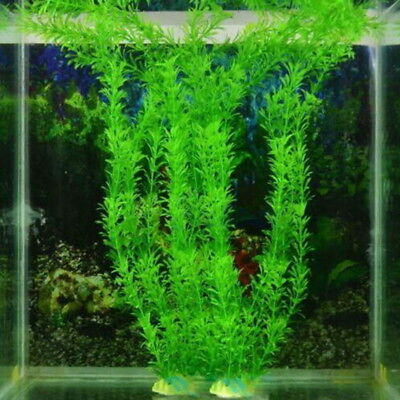 1pc Aquarium Fish Tank Accessories Decor Grass Artificial Fake Plastic Plant UK