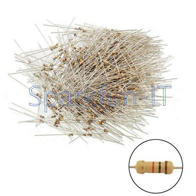 100PCS Film Resistors Resistance 10K Ohms OHM 1/4W 5% Carbon Film Assortment