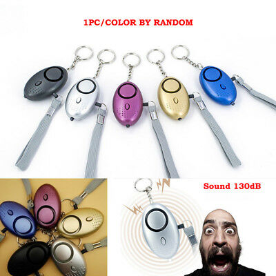 Personal Alarm Keychain 130dB SOS Emergency Self Defense Anti-Rape Safety Alarms