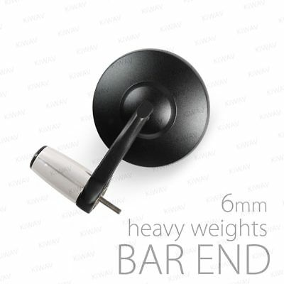 Stainles bar end weight chrome w/ mirrors Bob black M6 bolt-on for Yamaha YZF-R1