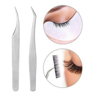 False Fake Eyelashes Grafting Tweezers Eyelash Extension Tweezers Makeup Tool