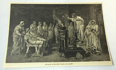 1887 magazine engraving ~ SCHOOL OF THE VESTAL VIRGINS