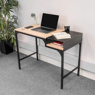 Vintage Industrial Metal Desk Small Writing Table Study Workstation Office PC