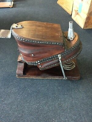 Victorian Wooden & Leather Foot Operated Bellows