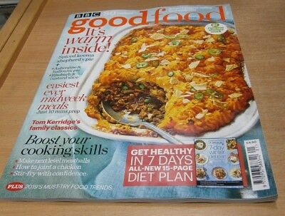 BBC Good Food magazine JAN 2019 SPiced Keema Sheperds Pie, Tom Kerridge Classics
