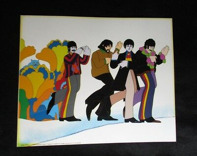 "The Beatles Limited Edition Sericel "" Line Up of Four "" Unframed / Mint"