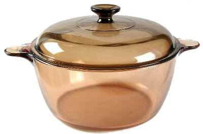 Corning Visions Ware Amber Glass 4.5 L Covered Dutch Oven Cookware