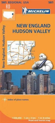 New England, Hudson Valley - Michelin Regional Map 581: (Michelin Maps) –...
