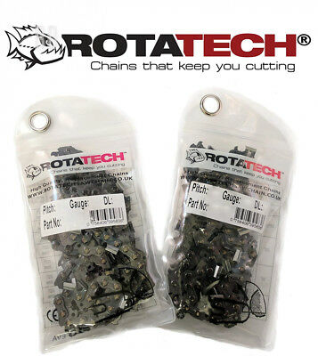 "Rotatech x2 Genuine Chainsaw Chain for ParkerBrand Parker 62CC 20"" PETROL..."