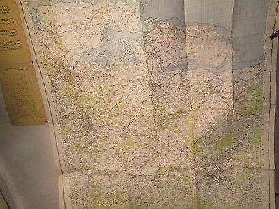 Chatham Rochester Maidstone Kent: 1954-57 1St Post War Ordnance Map- Old Cover