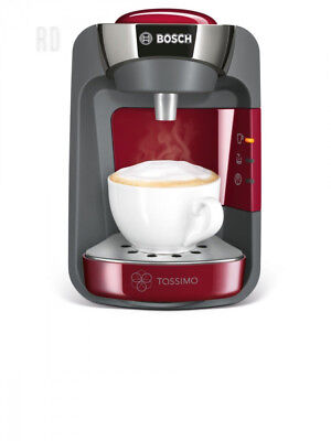 Bosch Tassimo Suny TAS3203GB Coffee Machine, 1300 Watt, 0.8 Litre - Red