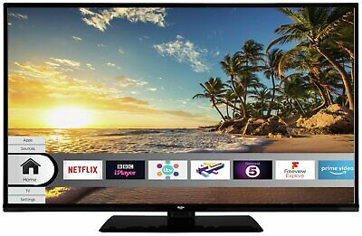 Bush DLED49FHDS 49 Inch Full HD 1080p Freeview Play Smart WiFi LED TV - Black