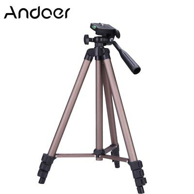 Andoer WT3130 Protable  Camera Tripod Stand with Rocker Arm for Canon Nikon