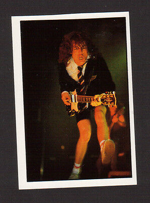 AC DC Angus Young 1987 Pop Rock Sticker Card from Italy