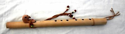 Replica Cherokee Flute with leather and beaded detail