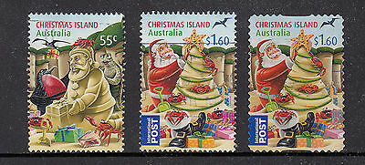 Christmas Island  2012 Christmas Fine used set 3 stamps