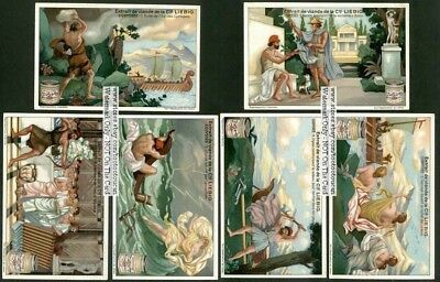 The Odyssey Homer Greek Epic Poem Myth SIX 1920s Trade Ad Cards