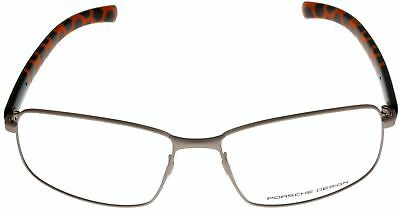 f23a3abca18d Porsche Design Rectangular Eyewear Frames Grey Matte Orange Unisex P8199B