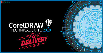 CorelDRAW Technical Suite 2018 🔐 Lifetime Lisence Key 🔐 Instant Delivery (30s)