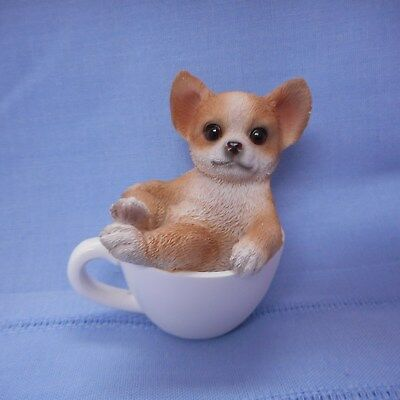 NEW Mini CHIHUAHUA Pup in a Mini Cup from Pacific Trading