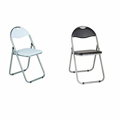 Argos Home Padded Folding Office Chair - Choice of Black / White