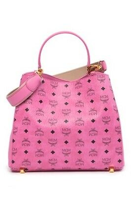 cc274bba327b New Tags Authentic Mcm Large Shopper Tote Shoulder Bag Pink (Retails At   760.00)