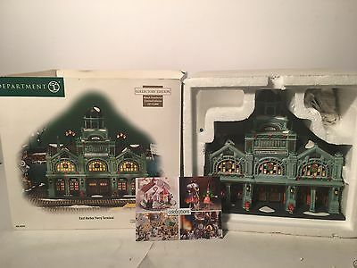 New Department 56 East Harbor Ferry Terminal #59254 Christmas In The City Series