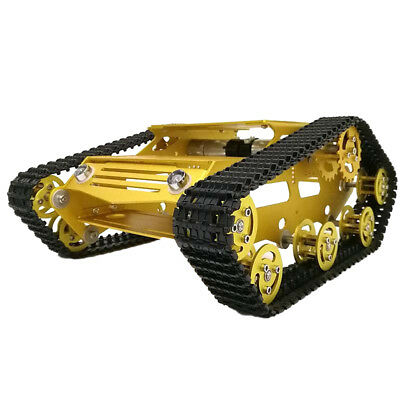 Unassembled Tank Car Chassis Kit DIY Parts Smart Tracked Robot Platform