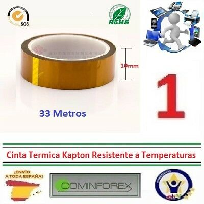 Cinta Termica Kapton 10mm Tape Temperature Resistant Polyimide  3D Printer  A186