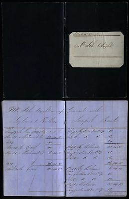1838-1865 LIVERPOOL BANK Leyland & Bullins 14 page BANK BOOK of John Wright