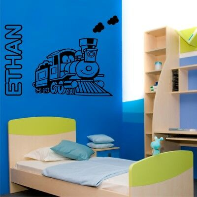 personalised train wall stickers for kids boys bedroom nursery decal