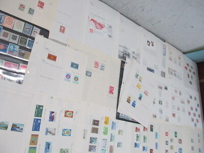 Nystamps Italy Iceland large many mint NH stamp collection album page