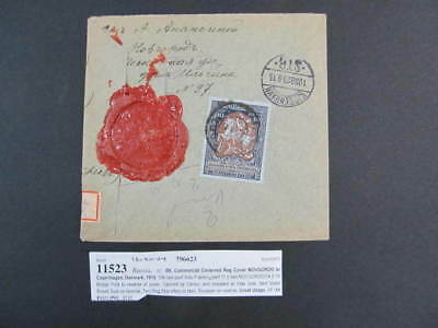 Nystamps Russia old stamp cover Novgorod to Copenhagen Denmark 1915 paid $125