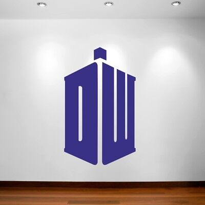 Tardis Police Call Box DOOR WRAP Decal Wall Sticker Mural Personalized NAME D127