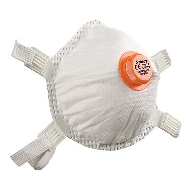 5x Alpha Solway Disposable Dust Mask Valved FFP3 3030V Respiratory Protection