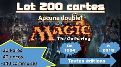 Carte Magic Lot 200 cartes / MAGIC MTG / Toute Edition / Etat correcte VF